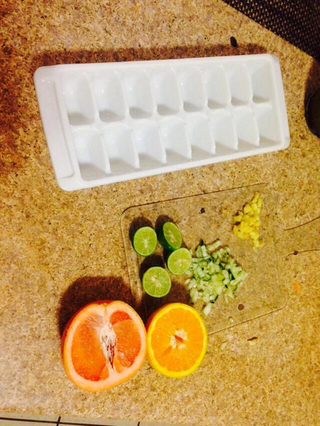 Make it fun 😘😍Cucumber limon ginger orange grapefruit  Water