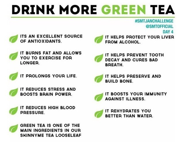 Drinking green tea burns fat and speeds up metabolism for weight loss aim for at least 5 cups per day no sugar added!!