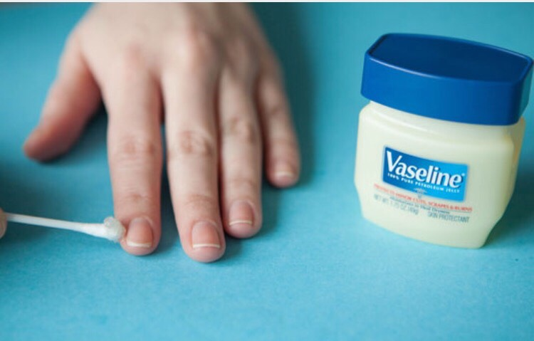 Putting vaseline around your nails before painting them will make it very to wipe away the access paint  Check out my tip for other amazing vaseline uses!!