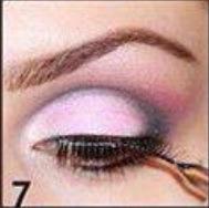 Finally apply false lashes and mascara.
