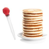 Use a turkey baster to squeeze pancake batter onto a hot griddle for less mess and perfectly shaped pancakes every time.