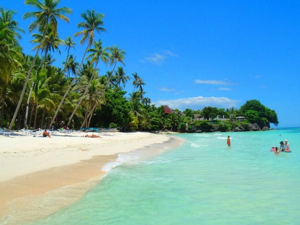 Alona Tropical of Panglao Bohol  a tropical island sorrounded in Palm trees that veer towards the crystal cold water