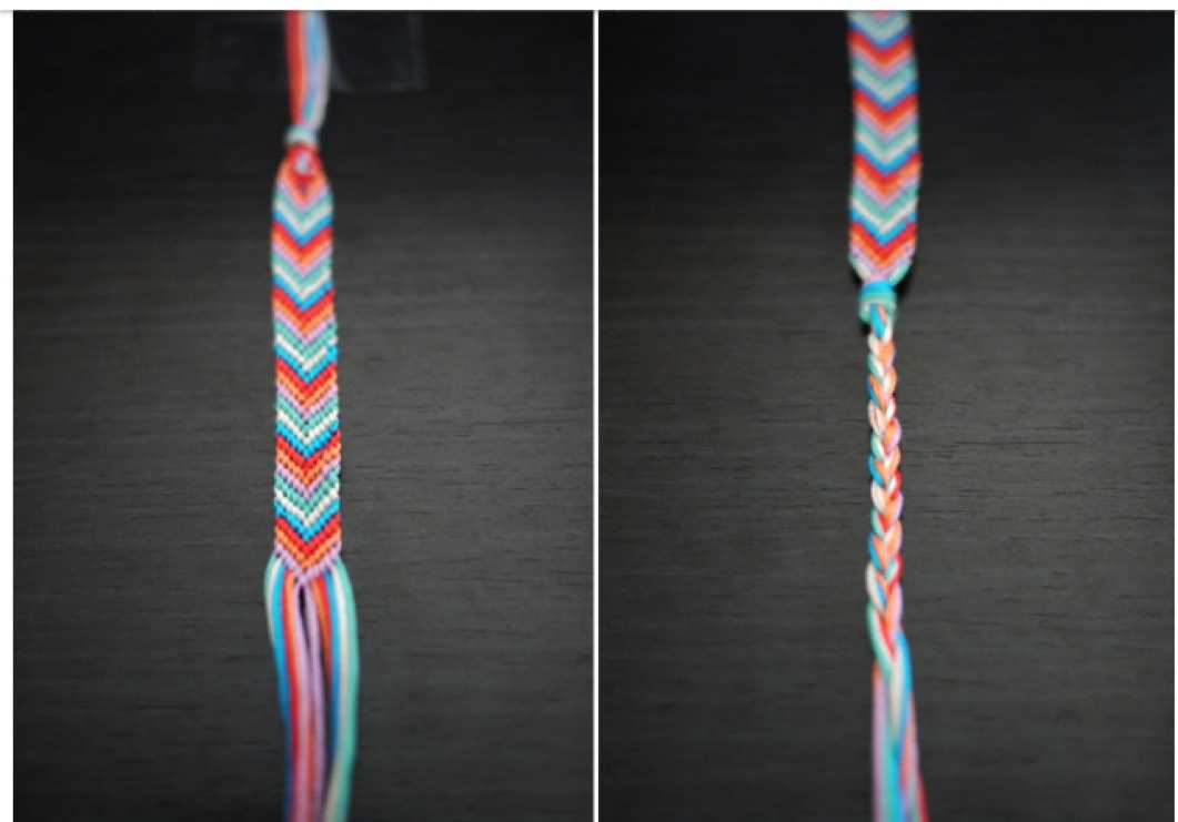 Tie it around your wrist and enjoy! You can do this in any colour and any amount of strings!