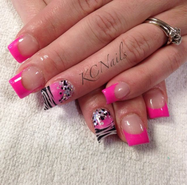 Zebra Tip Nail Designs Choice Image Art And Design Ideas Print