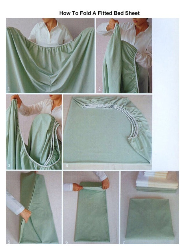 Etonnant How To Fold A Fitted Bed Sheet!