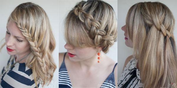 Cute head braid