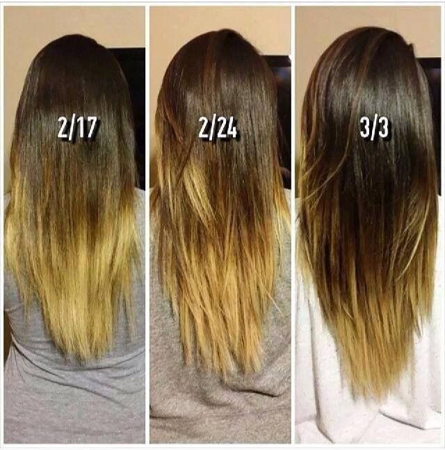 Your hair should grow this long depending how many weeks you do this!