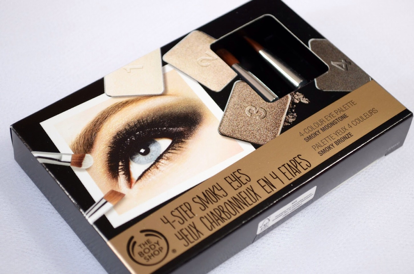 The body shop has a line of eyeshadow palettes for smoky eyes that double as great brow fillers and last all day!