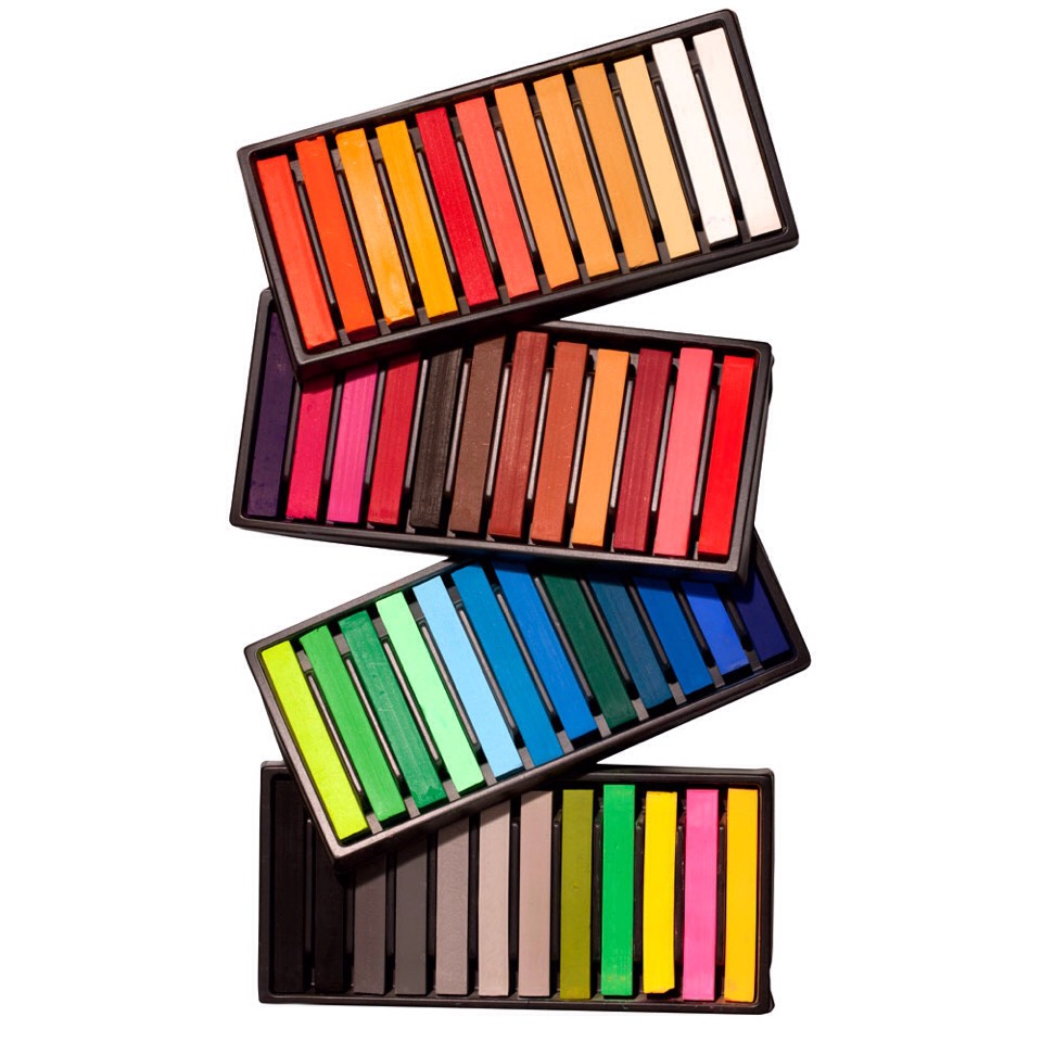 Don't want to invest??   One cheap and simple hack is to use soft pastels, they are much cheaper and easier to find as they are in most arts and craft shops.