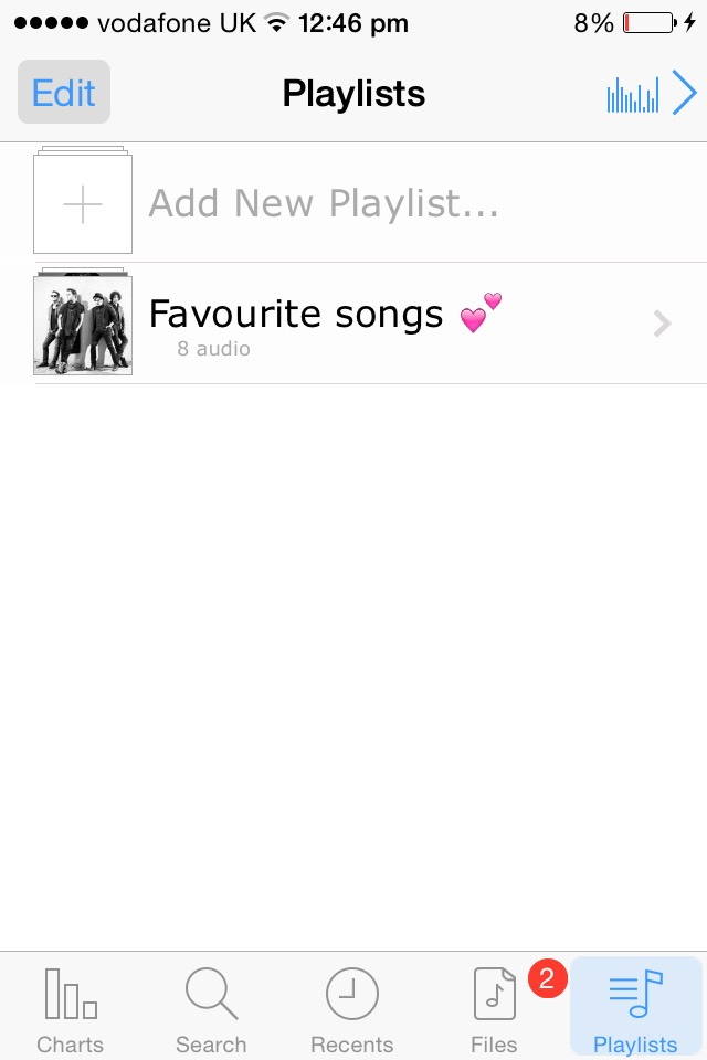 You can also make multiple playlists with your favourite songs in them.