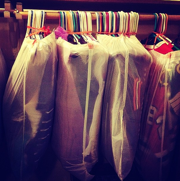 put your clothes on hangers and put a bunch of them in trash bags to where the hanging part is only sticking out. This keeps clothes on order and easy to hang up