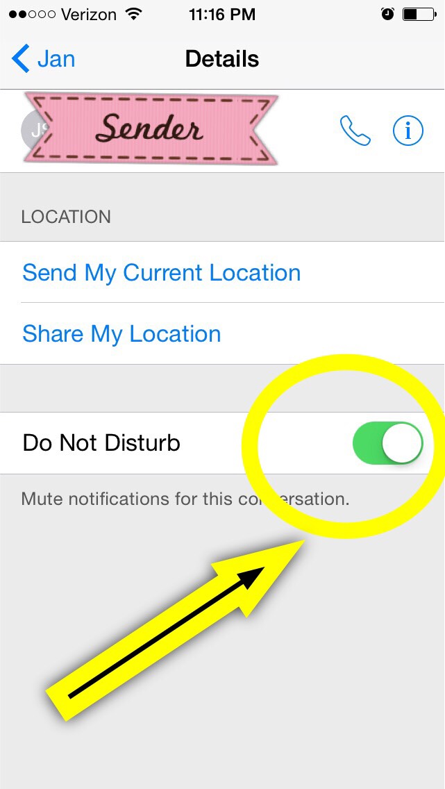 "Then mute this convo by clicking ""do not disturb"" 😁 your welcome!"