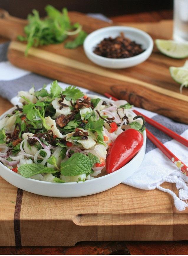 14. Burmese Fish Salad with Shallots and Fresh Herbs