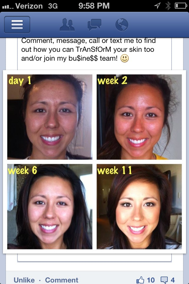 This is a girl in my groups results .message me on Facebook chantell Hilton for how to get a discount on products and free shipping  hiltonryherd.myrandf.com