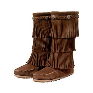 minnetoka fringe boots