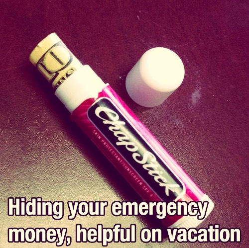 Easy way to keep money safe!!