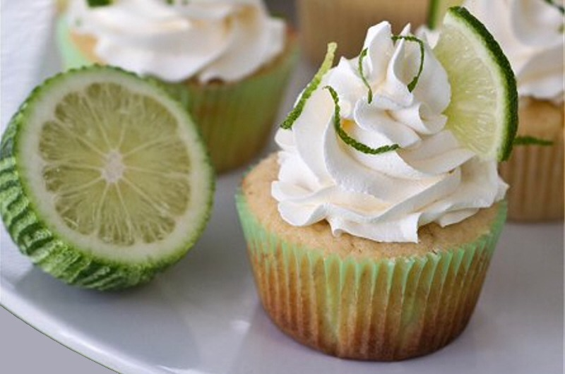 2.Margarita Cupcakes  When life gives you limes, make margaritas. When life gives you margaritas, make these deliciously zingy cupcakes.