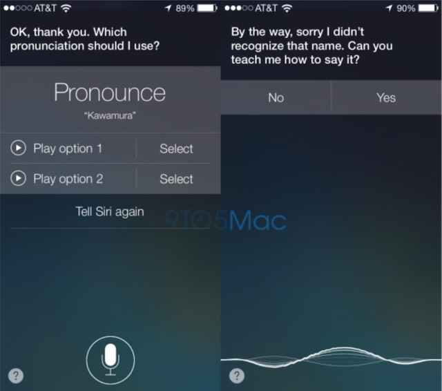 3- Teach Siri how to pronounce words by telling him you don't pronounce this word right.