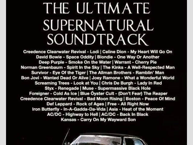 Every song that's been on supernatural