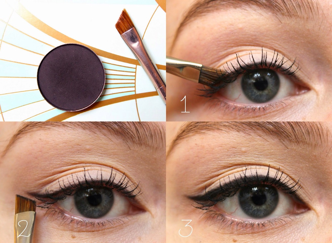 Apply a thin, soft line. Heavy liner on the lower lash line ends up looking like your mascara has smeared. Even if you use black for the lower lash line, apply it softer than you would for the upper lash line.