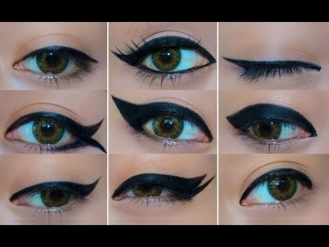 And you can mak e all sorts of designs of eyeliner tricks