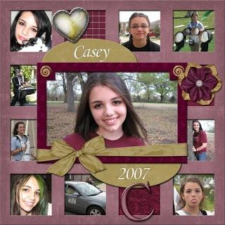 cute way to capture your daughter with a scrapbook page of her through the years