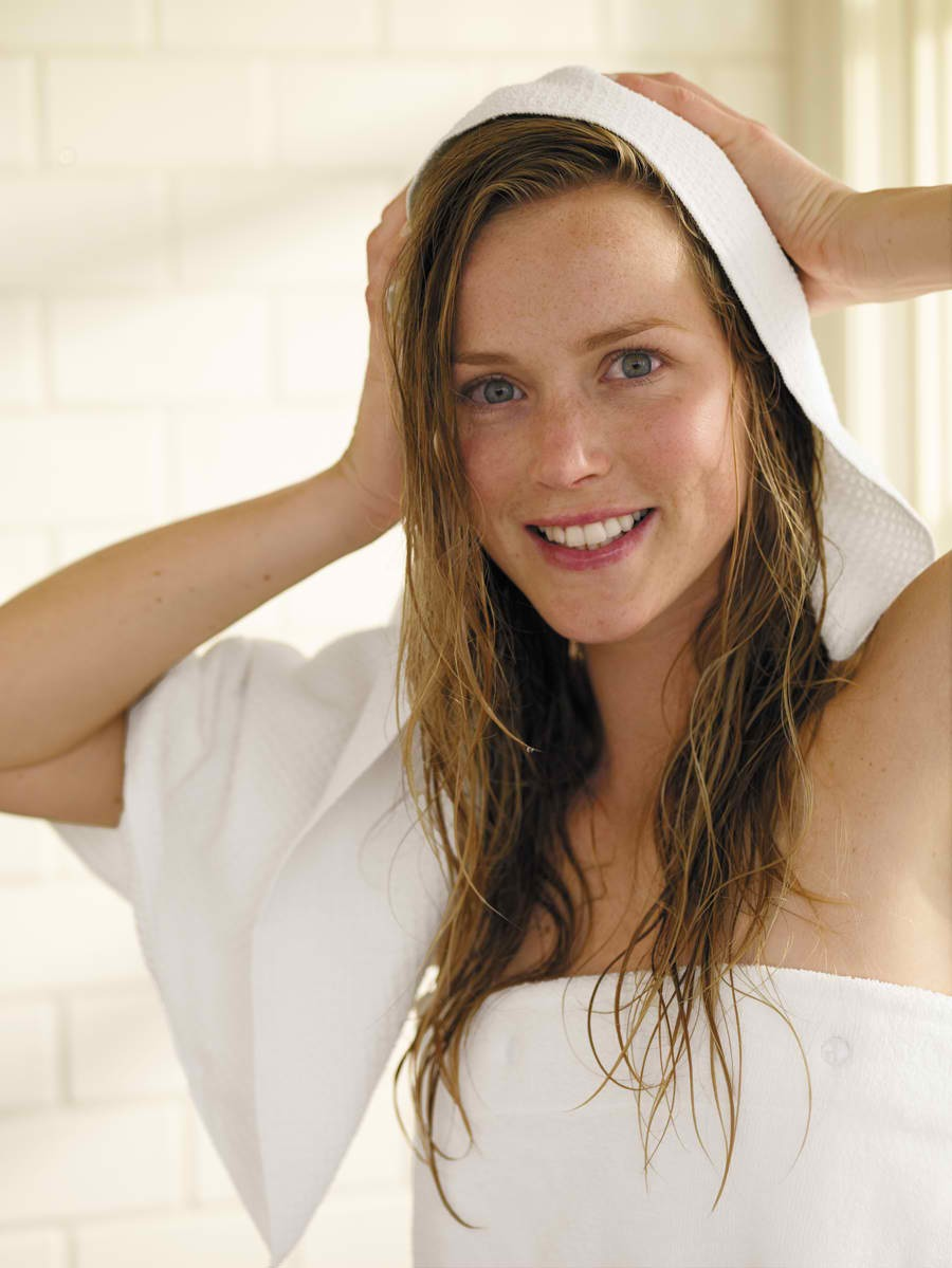 Yay! Now just pat your hair dry. Don't rub! Remember. Wet hair is sensitive! Just squeeze and pat.  And there you have it! A complete hair washing routine. Please like and follow for more tips. :)