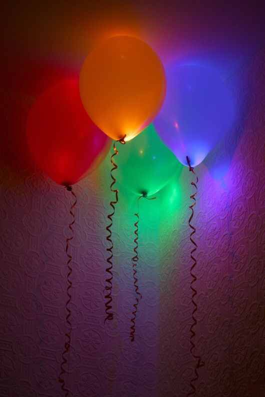 Glow stick ballons