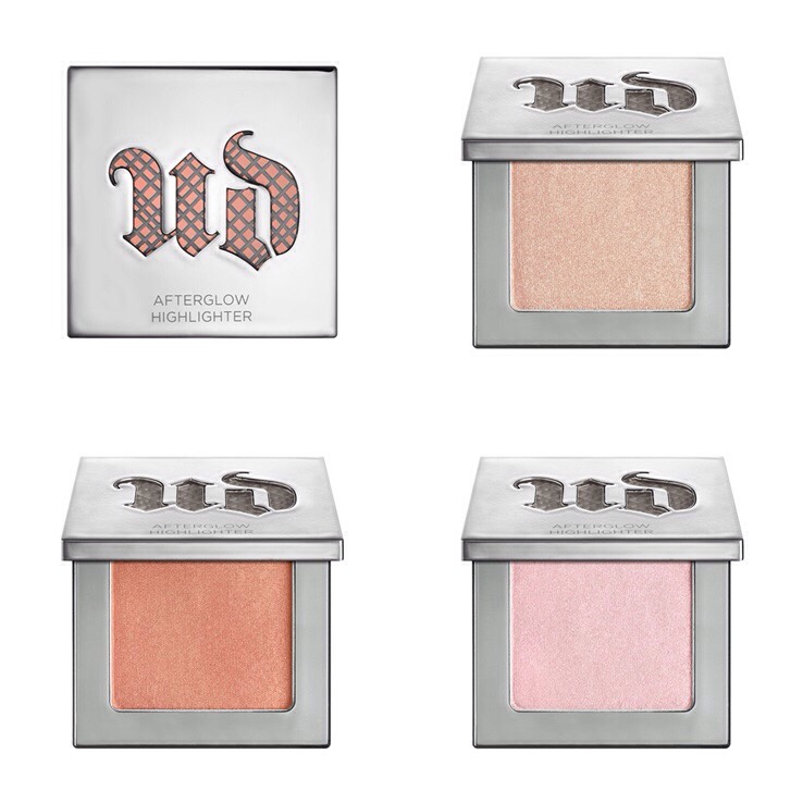 Urban Decay Afterglow 8-Hour Powder Highlighter |$26 SHADES |Aura (iridescent light pink),Sin (champagne),Fireball (peach with pink shift)