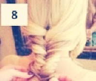 Once you're done, pull your braid, so it looks bigger.