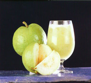 Guava, have more vitamin – B1, B2, B6 – iron, calcium and vitamin C than other fruits. Vitamin C is a nutrient. It is necessary for skin because it help to develop Collagen to against Antioxidants which is the cause of getting premature wrinkle. And the guava can make your skin bright and smooth.