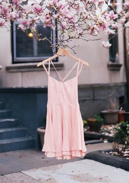 The perfect pastel colored light strappy dress