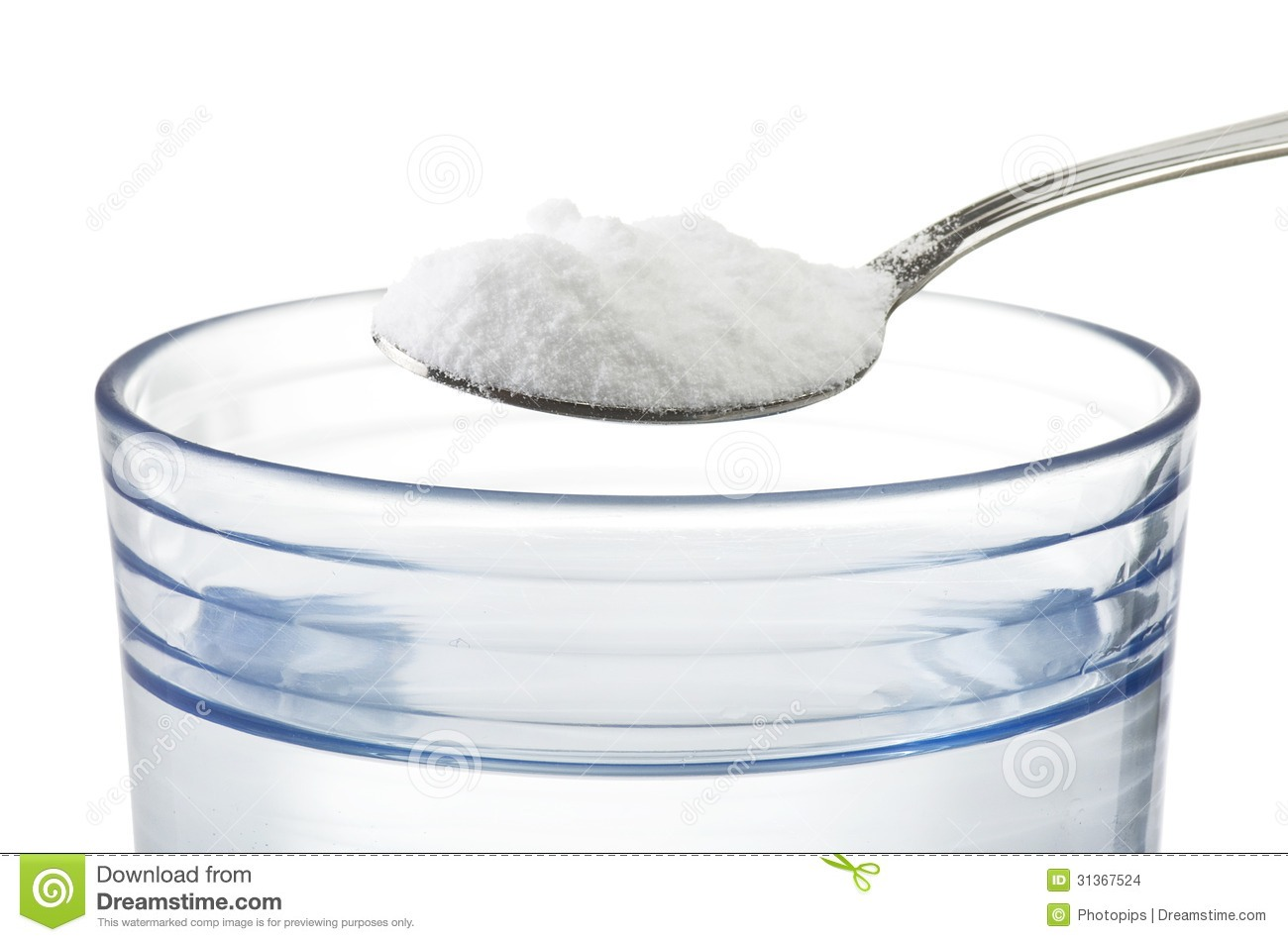 Place a tablespoon of baking soda into the bowl.