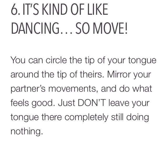 how to tongue kiss steps