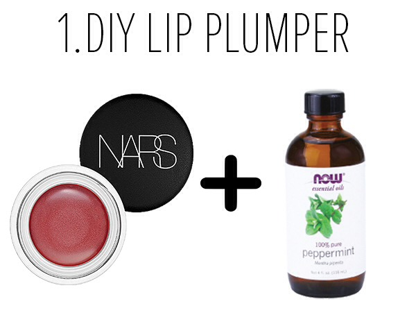 If you want to plump up your pout, but don't have a Venom-like plumping gloss on hand, add one drop of peppermint oil to your favorite shiny lip color. Smooth evenly over your lips, and you'll immediately feel the tingle and see the arousing results.