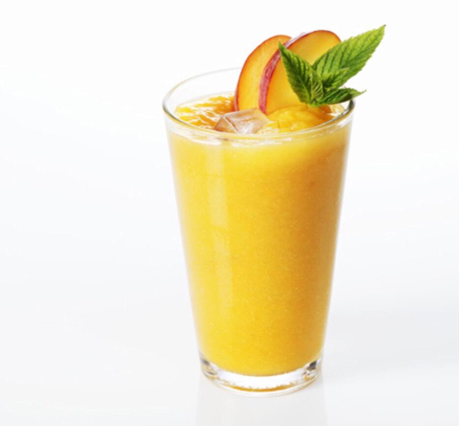 Just Peachy  - Serves 2 people  1 c 1% milk 2 tbsp low fat vanilla yogurt 1/2 c frozen peaches  1/2 c strawberries 1/8 tsp powered ginger 2 tsp whey protein powder  3 ice cubes