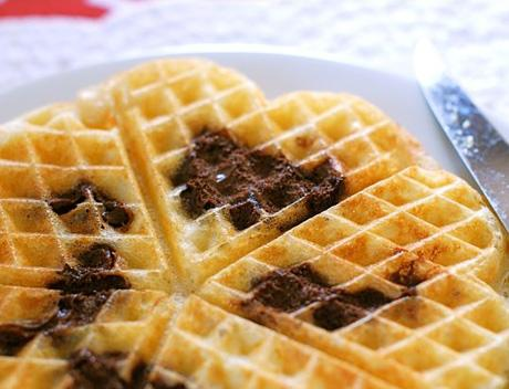 Nutella swirl waffles!
