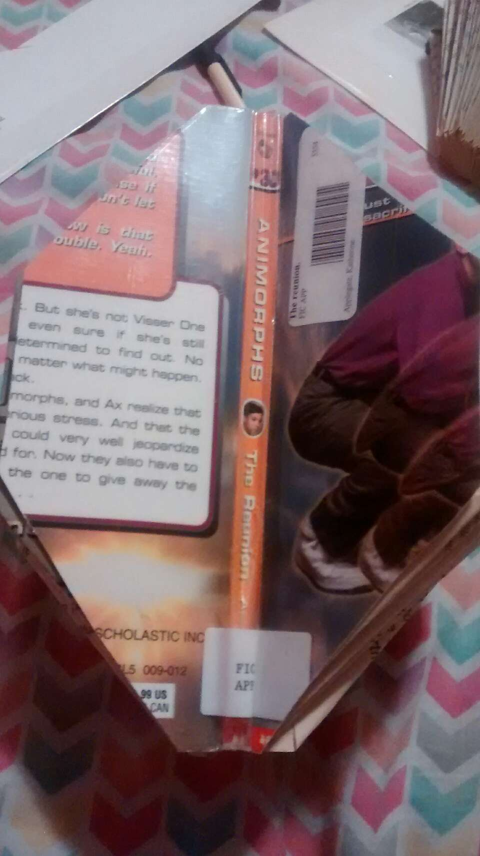 The bottom should look like this,  with the spine still attached.