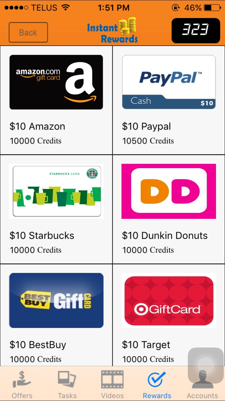 Instant Rewards is an app that allows you to take your spare time and earn cash. By simply doing surveys, watching videos, playing games and downloading apps, you can earn some cash or redeem uour points for other rewards!