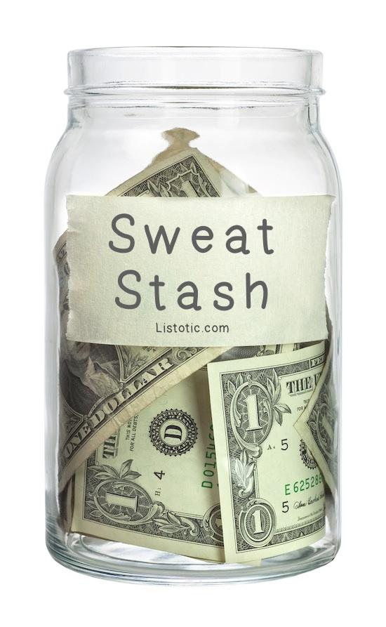 5. Reward Yourself You can make it something as easy as treating yourself with a new purse with 5 lbs lost, a spa day with 10 lbs lost, or how about this idea: place a dollar in a jar for every time you exercise.