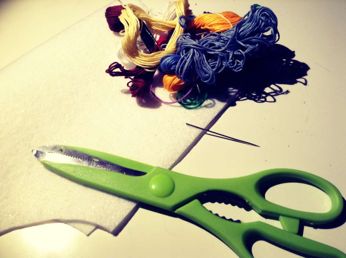 Equipment: Scissors Fabric Needle String