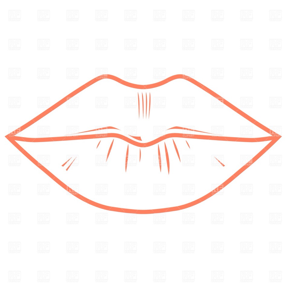 First outline your lips
