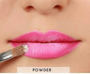 STEP 3: apply defining powder or translucent powder with a brush. (if you dont have any of these powders you can also use baby powder)