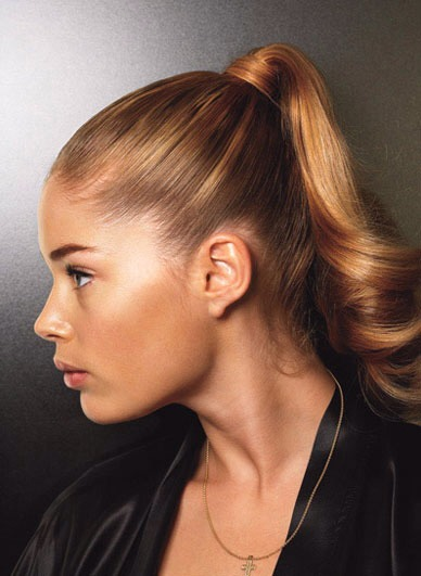 Avoid tight updos, as they put a lot of tension on your hair follicles, which leads to breakage.