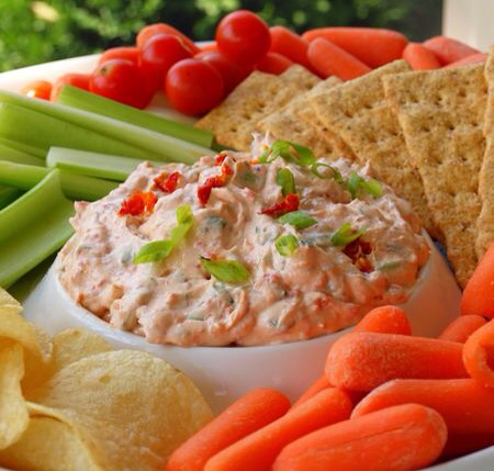 Serve with flat bread, crackers, chips, veggies or all of the above. Enjoy!