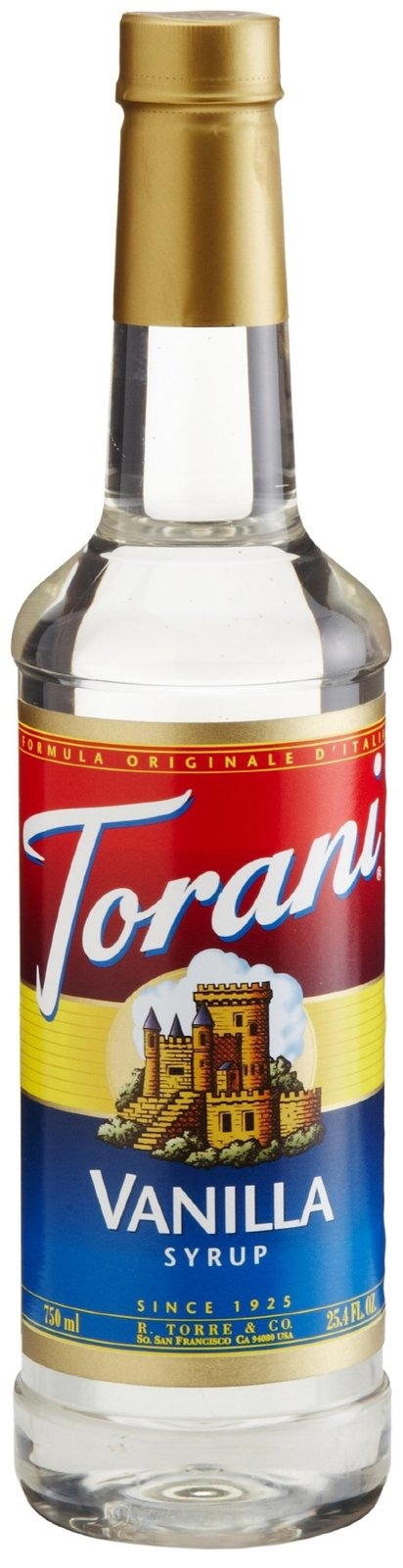 To finish off the base mixture, you can use either simple syrup (which is a mixture of water and sugar- quick and easy to do) or use Torani syrup. I use the vanilla flavor. This will sweeten the mixture a bit so if you want it to be more/less sweet, adjust the amount you use to fit your liking.