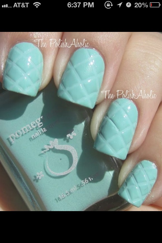 Put a thick layer of nail polish, then with a ruler drag the design lightly