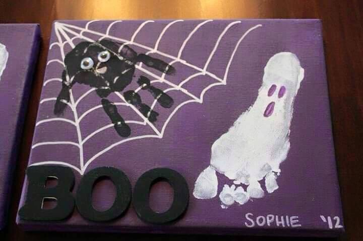 Halloween craft with little ones