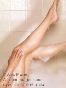 Wash your legs with a LOFA and your regular soap you use before shaving will soften the hair and skin.