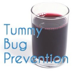 Drink a glass a day of grape juice  and if the tummy bug (flu) is going around  make it 2 to 3 a day.  Must be 100% grape juice.